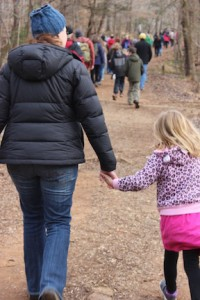 NYD Hike 2015 mom and child